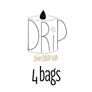 DRiP ViP Four 12oz Whole Bean Bags per Month